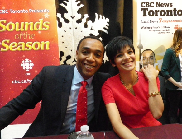 Dwight Drummond and Anne Marie M. from the CBC TV news