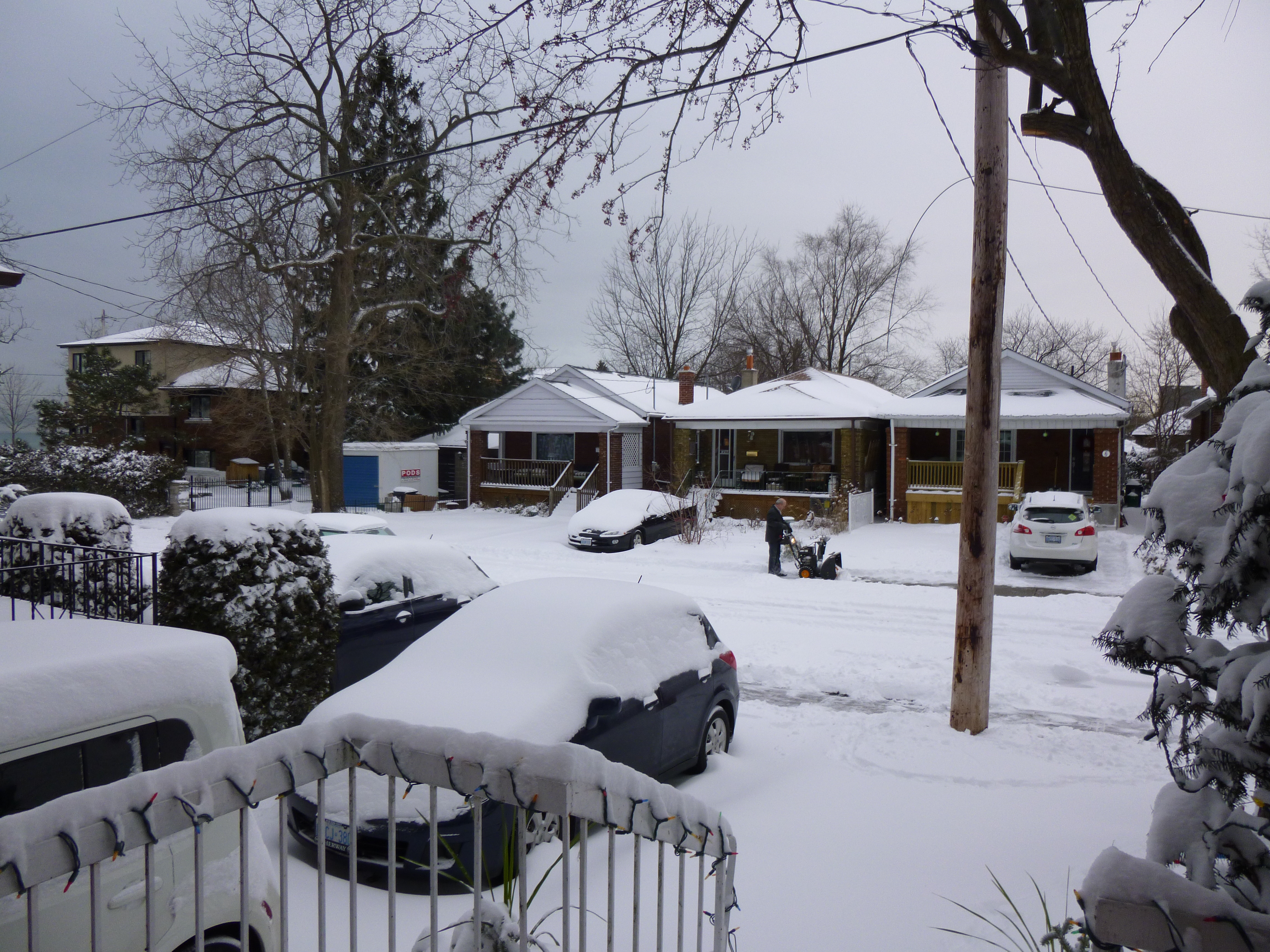 The view from our front door after our first big snowfall this winter.