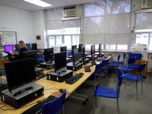 These old computers would be removed and replaced with tables and laptops.