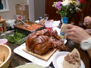 A feast at my oldest daughter's  and partner's home.