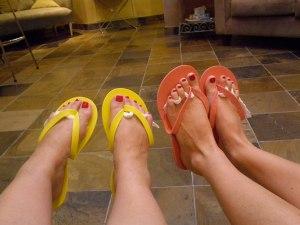 Getting our feet ready for sandal season.