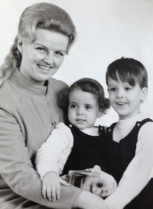 My Tante H and my two cousins as toddlers.