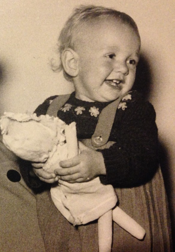 This photo is more than 50 years old. It's a picture of me when I was one year old.