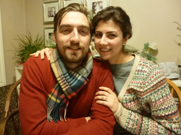 Taken two year Christmases ago when they first got engaged.