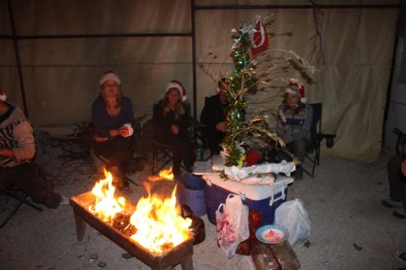 indoor campfire Damascus Syria